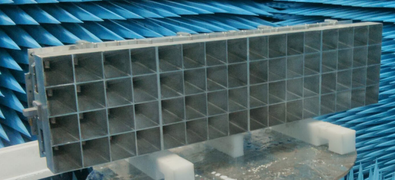 Fig. 1. Front view of the array