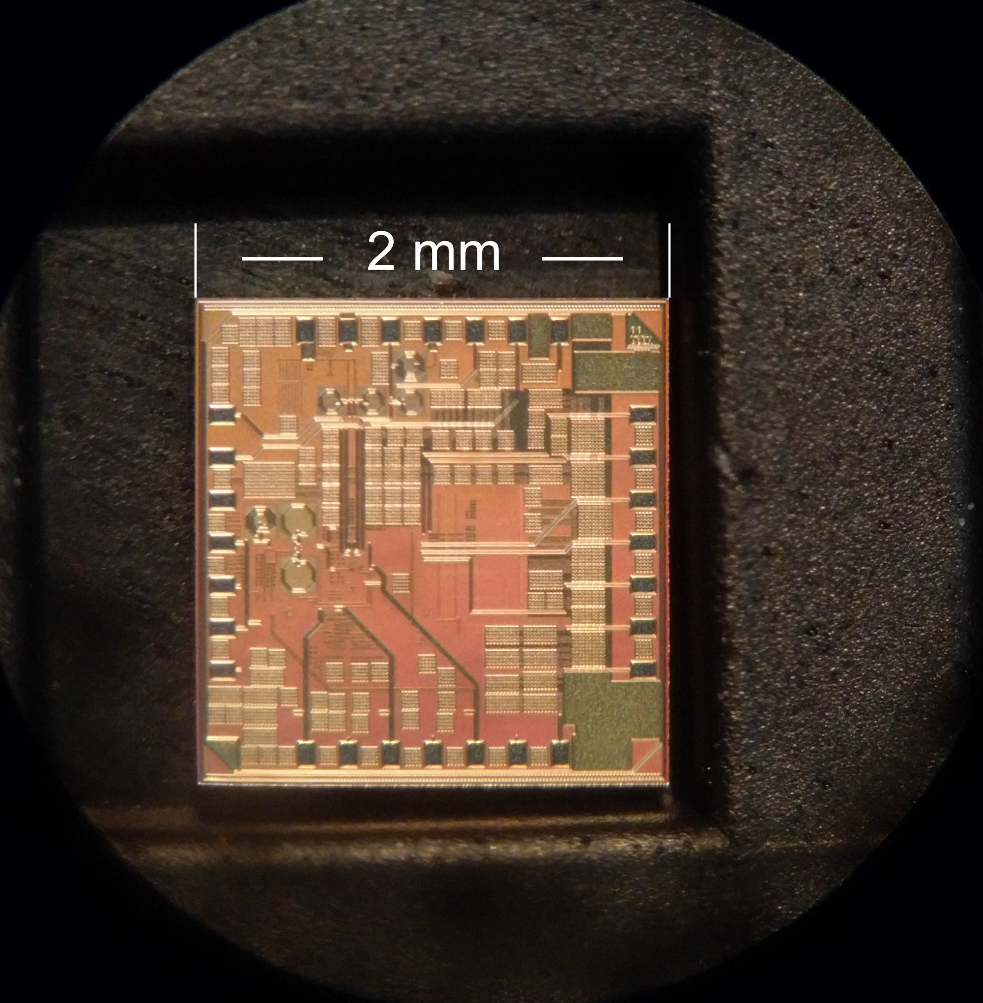 Fig. 2. Photo of the fabricated chip